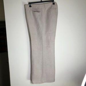 LANE BRYANT Women's Sz 20 Khaki Linen Blend Pants